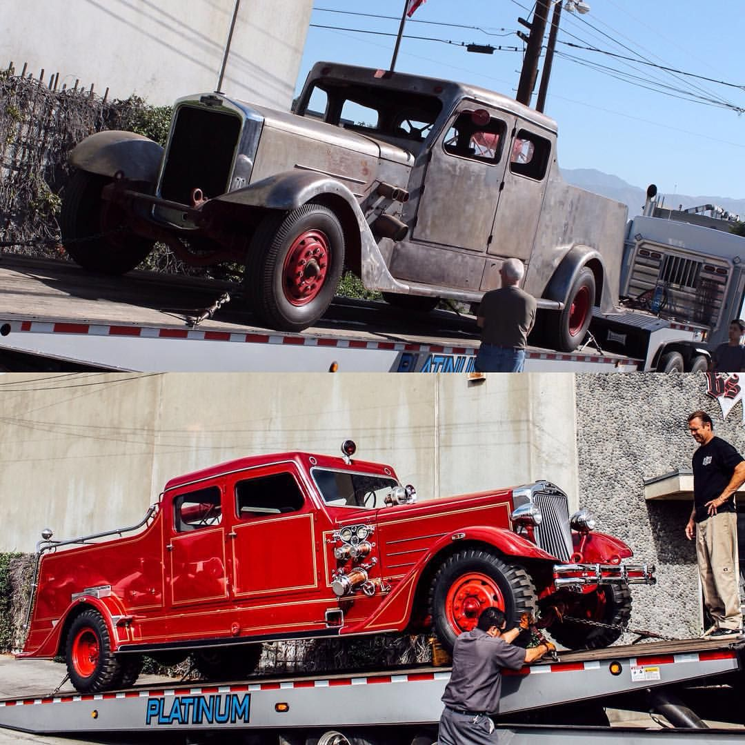 Mack Truck Rod Before And After: A Before And After Photo Of The 1937 American La France