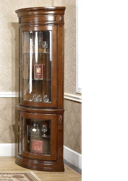 Corner Wall Mounted Glass Display Cabinet