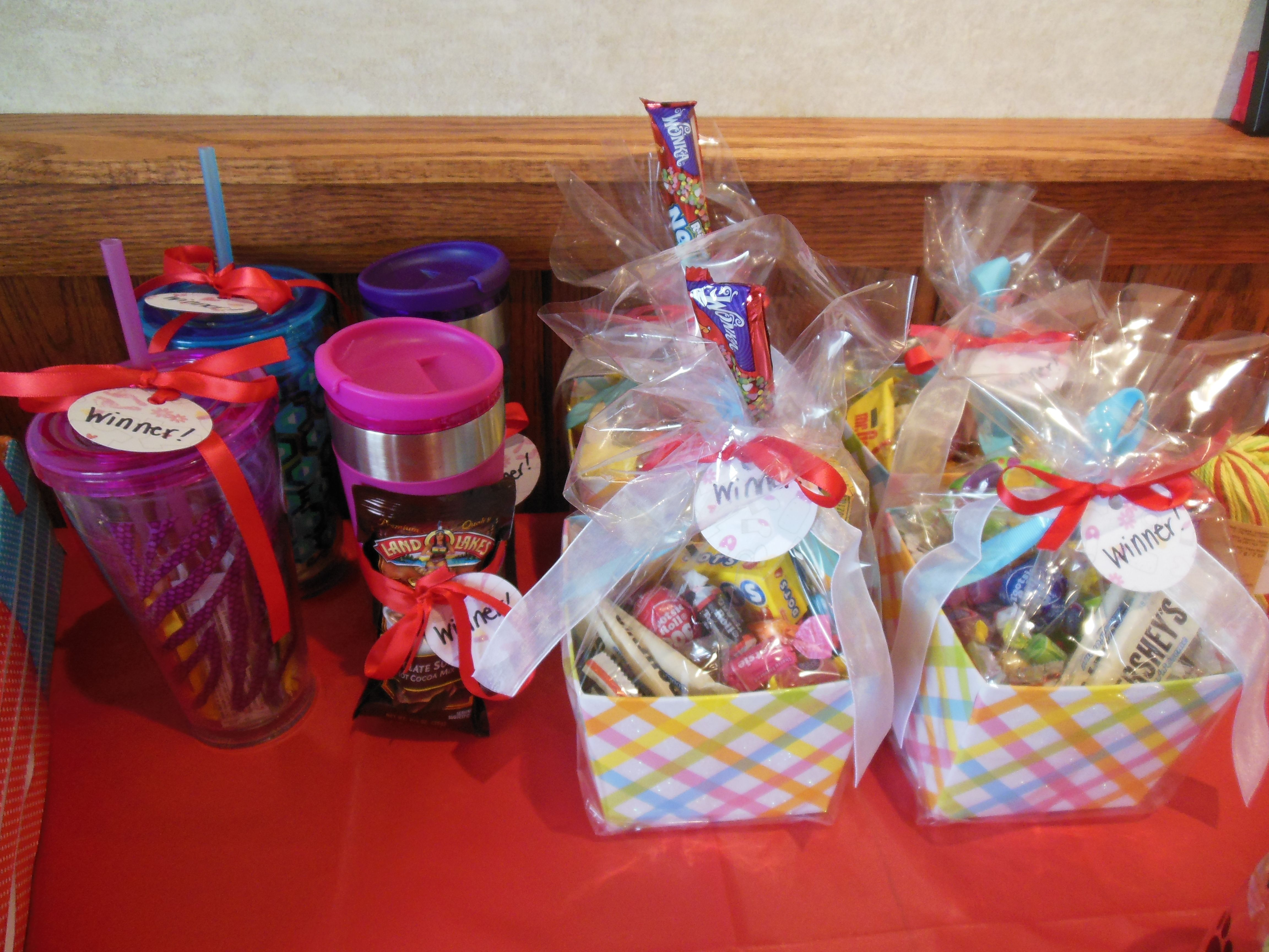 Baby shower prizes!