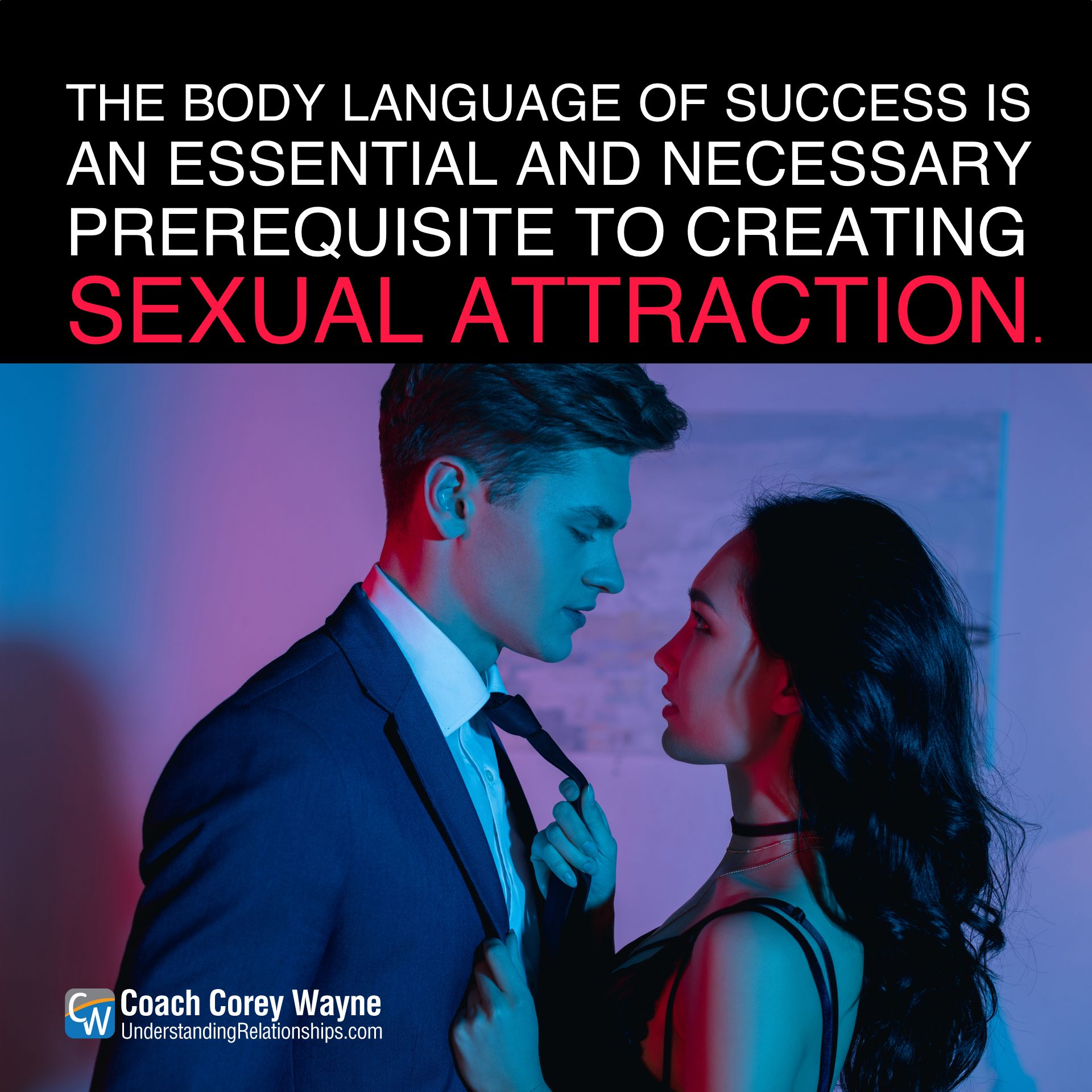 Sexual attraction body language in men