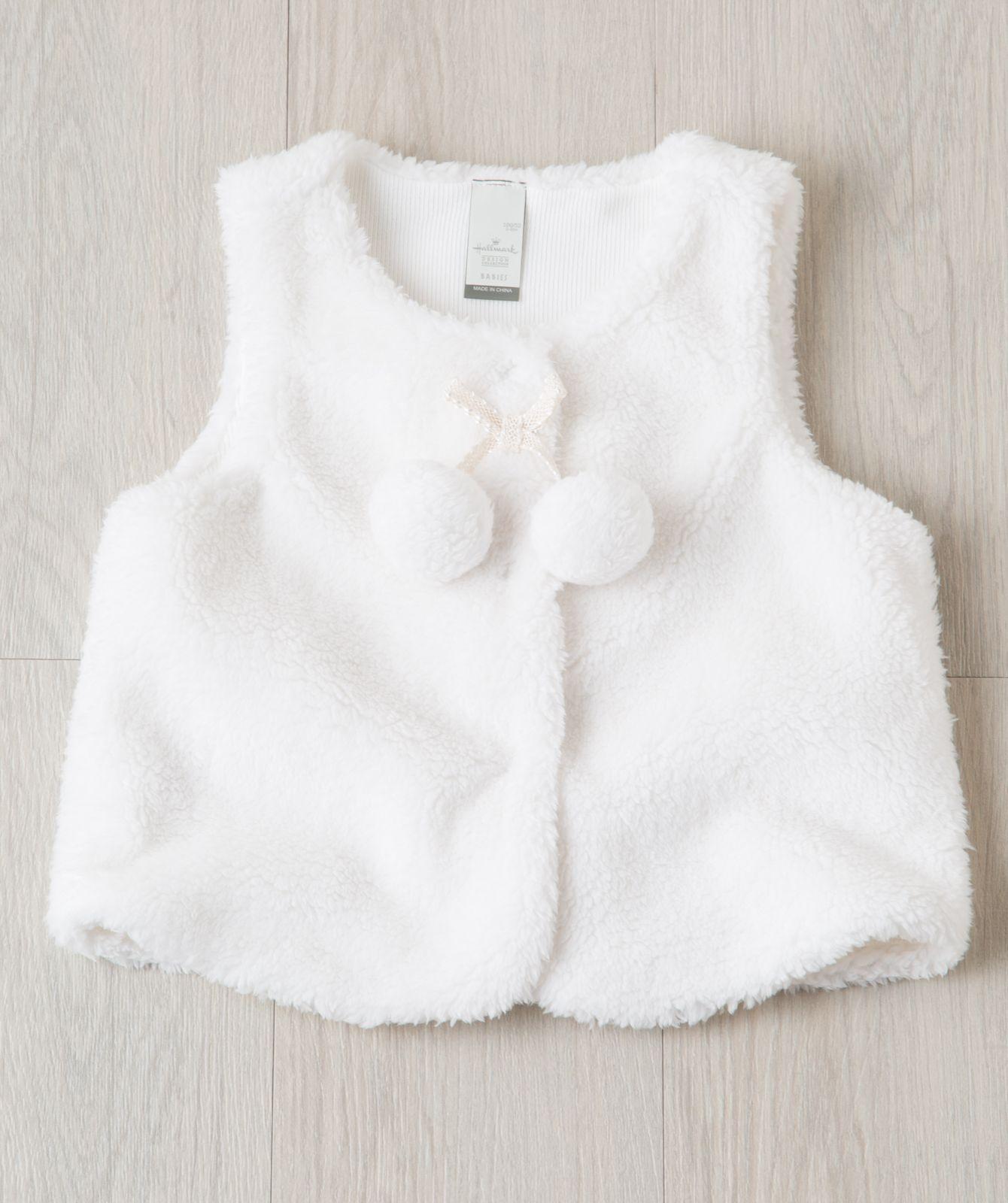 Toddler Girl Ski Bunny Pom Pom Vest Hallmark Baby Clothes