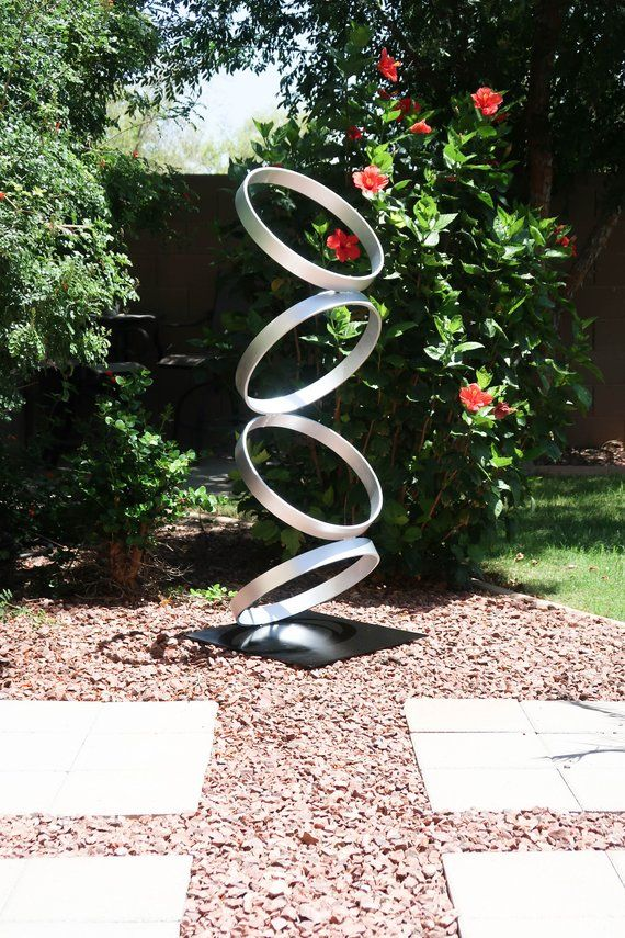 Large Mid Century Modern Metal Sculpture Art Abstract ...
