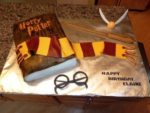 Harry Potter Birthday Cake Birthday Cakes Harry Potter Theme
