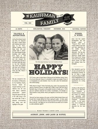 Hello-Lucky-Holiday-Family-Newsletter | Christmas | Pinterest