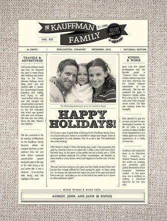 HelloLuckyHolidayFamilyNewsletter  Christmas