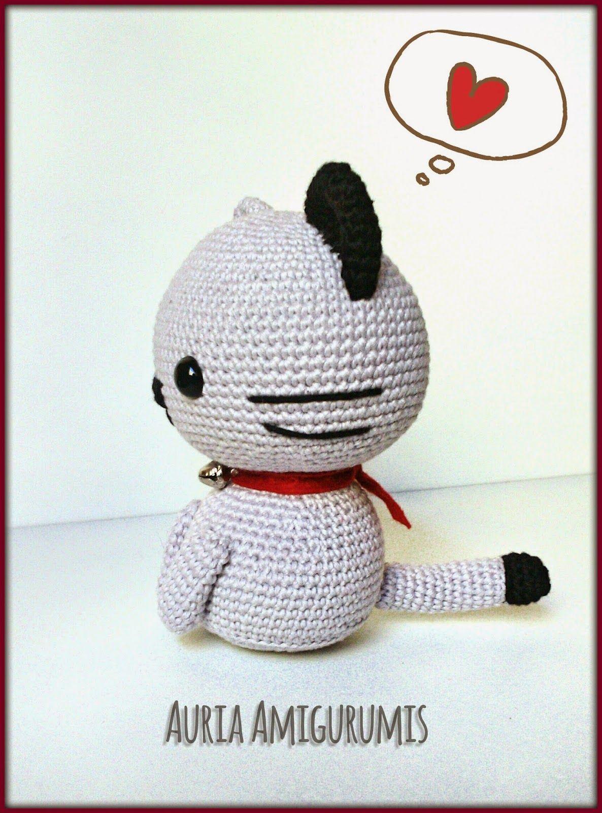 Gato amigurumi, esquema japonés. | Patrón Gatito Amigurumi ...