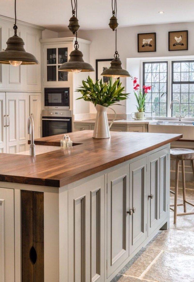 Pretty Farmhouse Kitchen Art Ideas 24 Rustic Kitchen Cabinets Rustic Farmhouse Kitchen Home Decor Kitchen