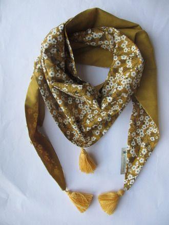 Chèche ou foulard liberty mitsi moutarde   Snood   Pinterest ... 2834ec347e8