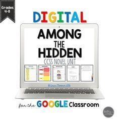 How are you meeting student technology needs in your ELA classroom?  Grab this Among the Hidden Novel Unit for Google Slides Grades 4-8