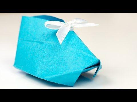 Origami Babyschuhe Aus Papier Falten Bastelanleitung Geschenk