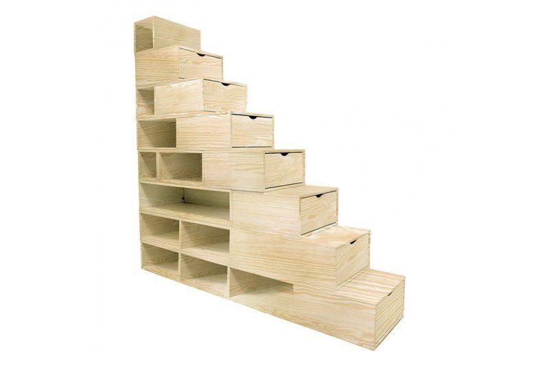 escalier cube de rangement hauteur 100 cm newapartment pinterest cubes escaliers et cubes. Black Bedroom Furniture Sets. Home Design Ideas