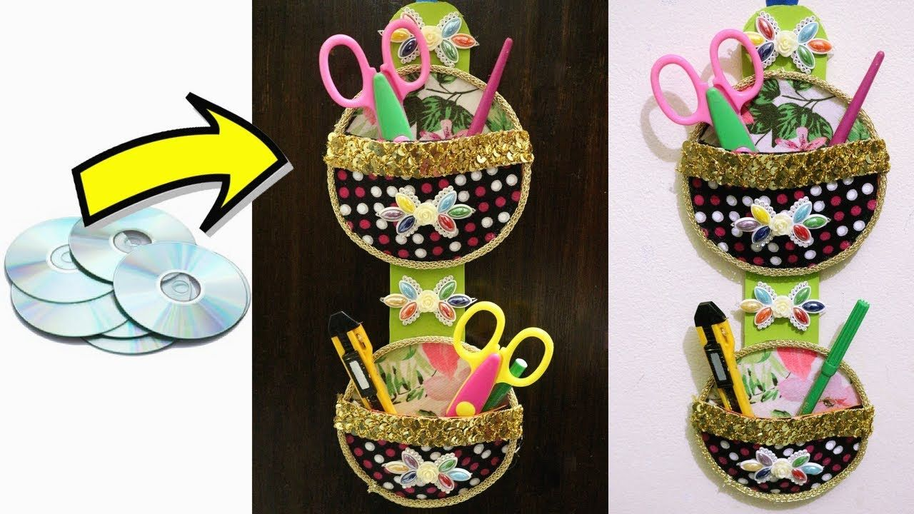 Best Out Of Waste Old Cd Craft Genius Way To Reuse Old Cds Waste