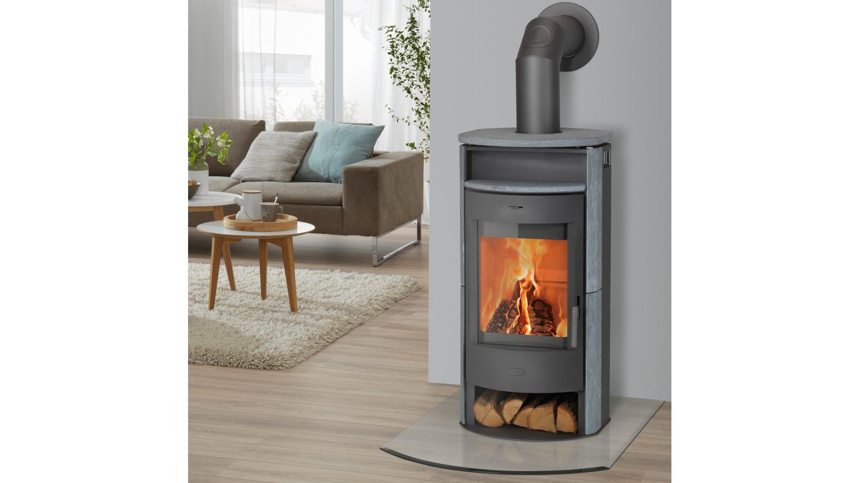 fireplace kaminofen prag naturstein 6 kw panorama sichtscheibe konvexe form kamin in grau. Black Bedroom Furniture Sets. Home Design Ideas