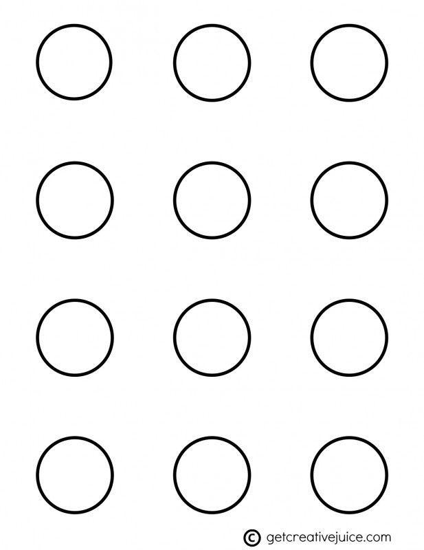 Printable 1 Inch Macaron Template Circle cakepins.com in