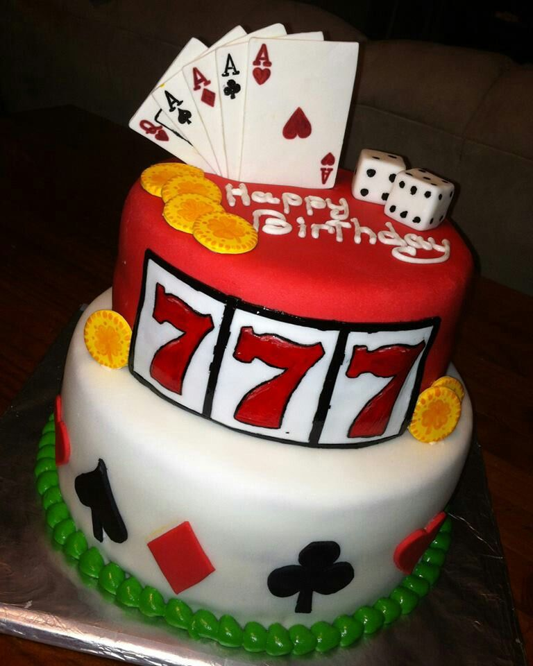 Gambling birthday cake