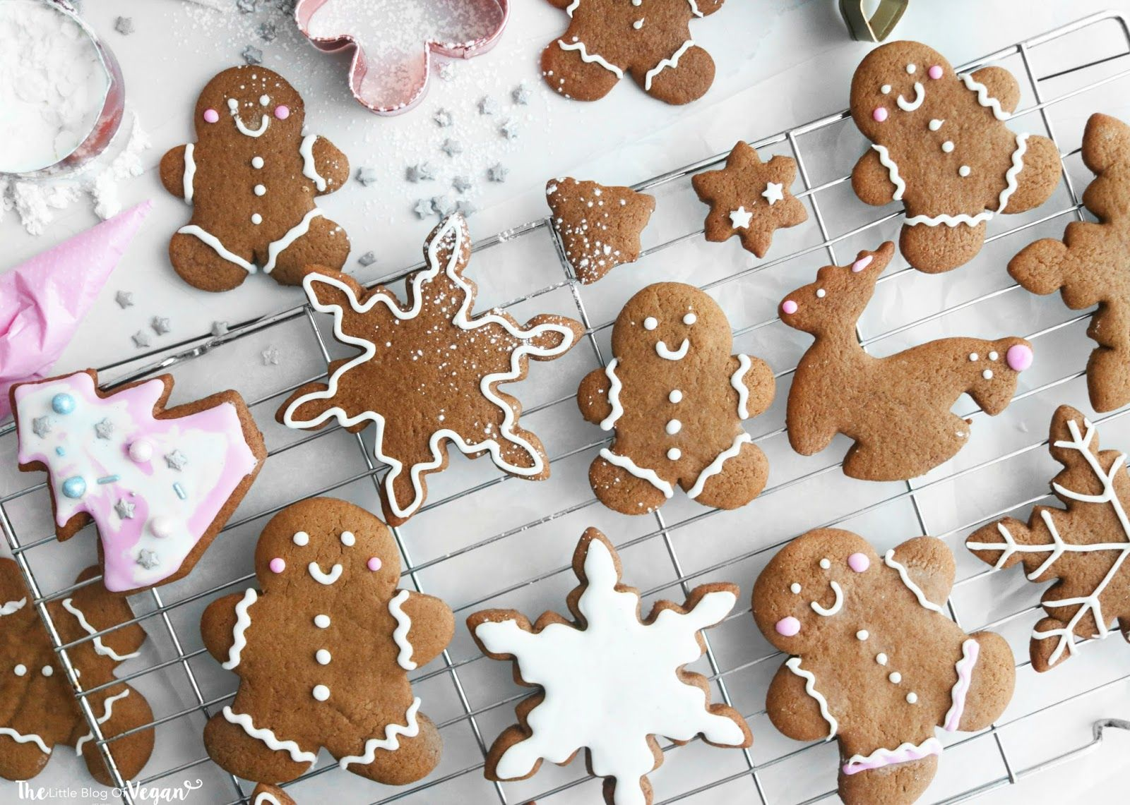 Vegan Christmas gingerbread cookies recipe #gingerbreadcookies