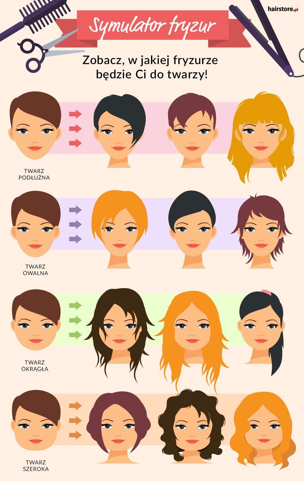 Komu Pasują Krótkie Włosy Infografiki Fryzury Włosy I