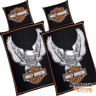 harley davidson microfaser bettw sche eagle doppelpack. Black Bedroom Furniture Sets. Home Design Ideas