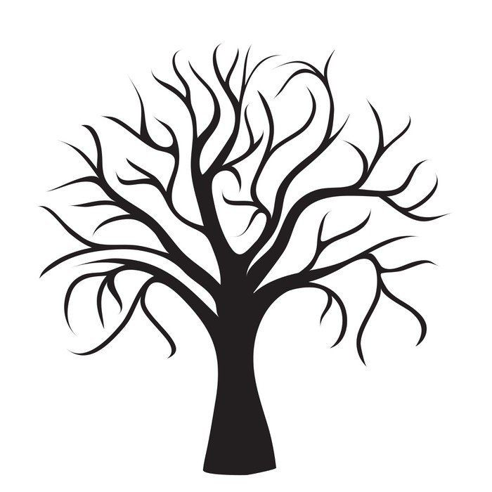 black tree without leaves Wall Decal Easy Installation 365 ...