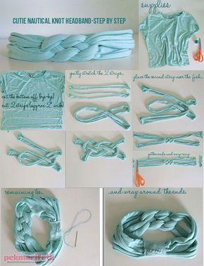 Eski tişörtten örgü bandana yapımı | Takı Tasarım | Pek Marifetli! #babyheadbands