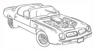 How To Draw A Trans Am By Dawn Cars Coloring Pages Race Car