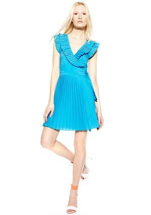 NECESSARY OBJECTS V-Neck Dress with Pleat Details #ideeli