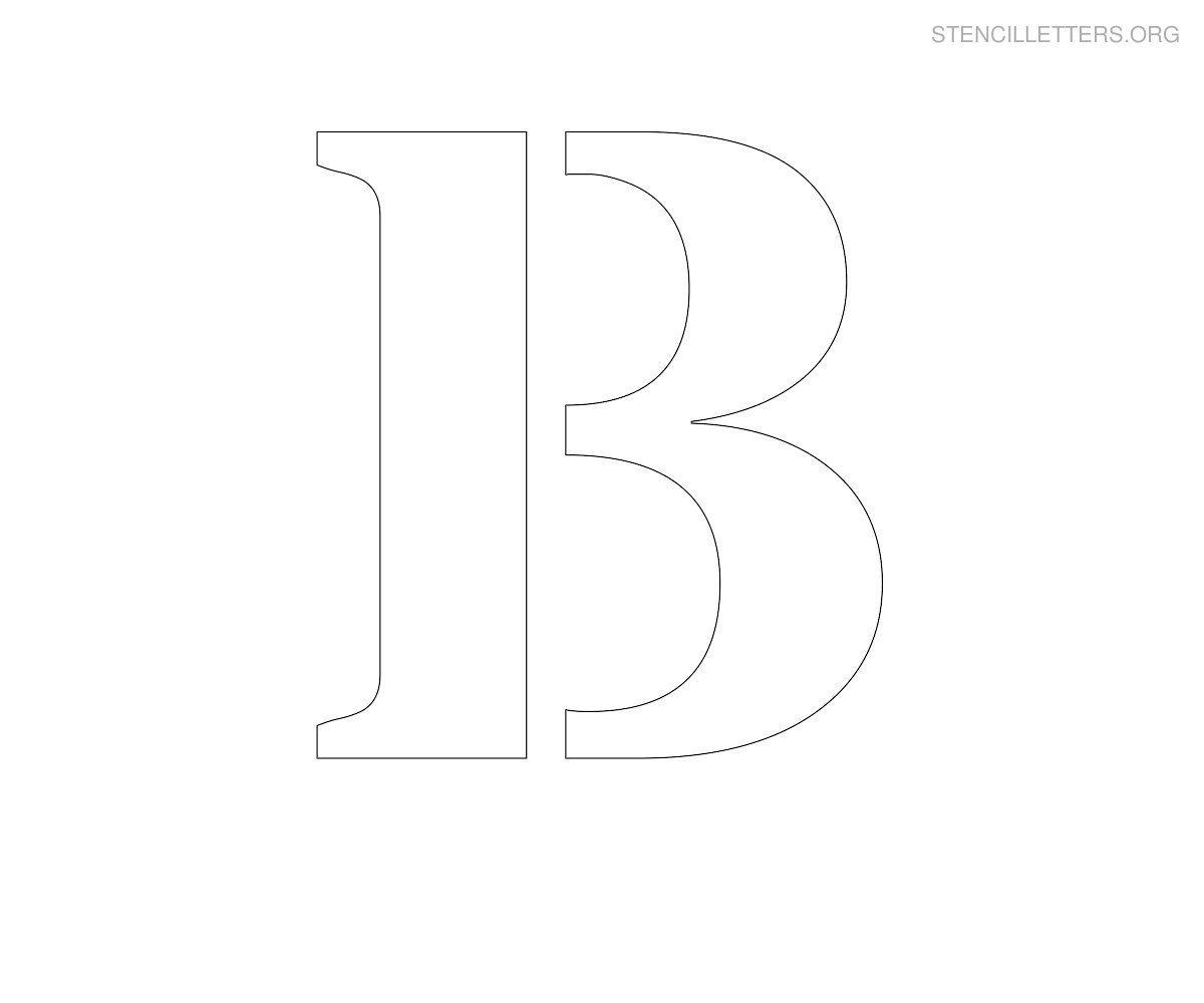 Large Printable Letter Stencils Stencil Letter B Printables To