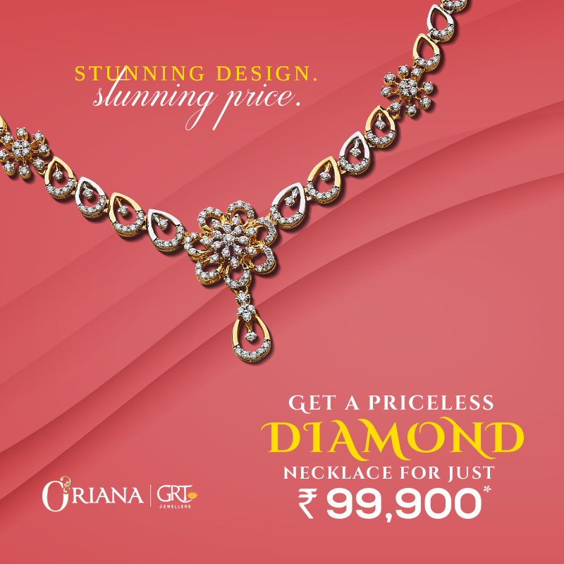 Get Awe Struck With These Diamond Necklace Collection From Grtjewellers These Stunning Neck Pieces Are Diamond Diamond Necklace Designs Simple Diamond Jewelry