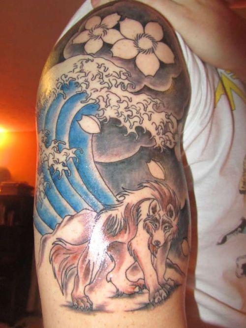 Japanese Wolf Tattoo Tattoo Sleeve Designs Japanese Tattoo Designs Japanese Sleeve Tattoos