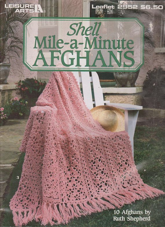 Shell Mile-a-Minute Afghans - Crochet Pattern Booklet - 10 Afghans ...
