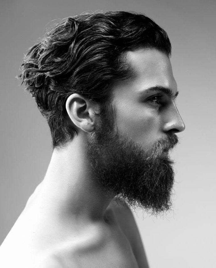 Coiffure Pour Homme Avec Barbe Et Cheveux Mi Long Boucles