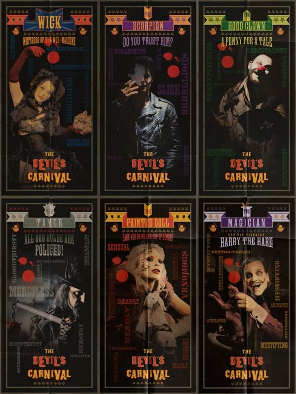 Character Cards   The Devil's Carnival