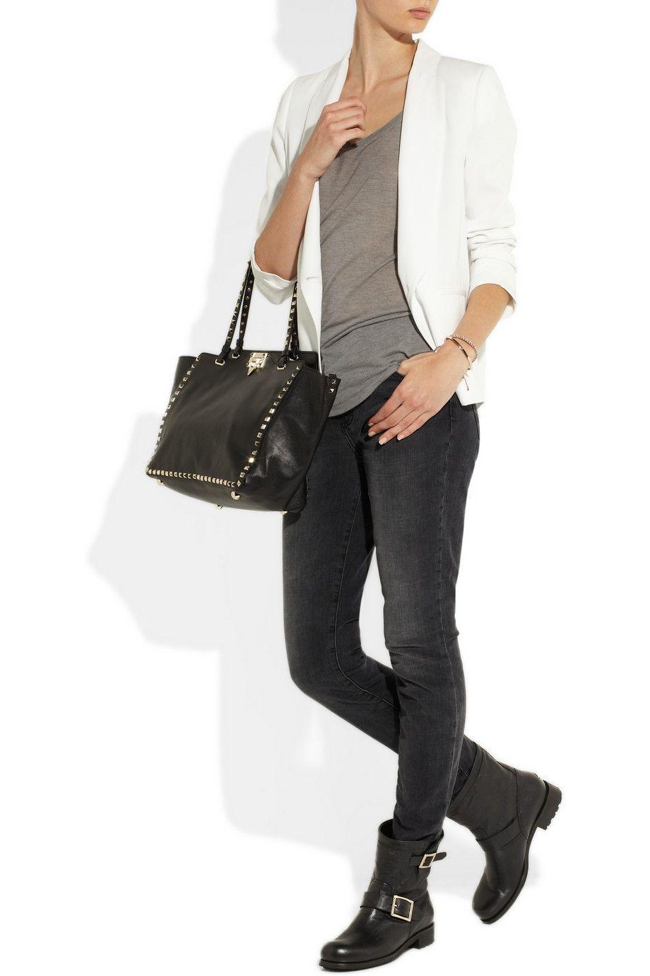 acd3bb5849cd JimmyChoo$69 on | womens fashion | Biker boots, Biker boots outfit ...