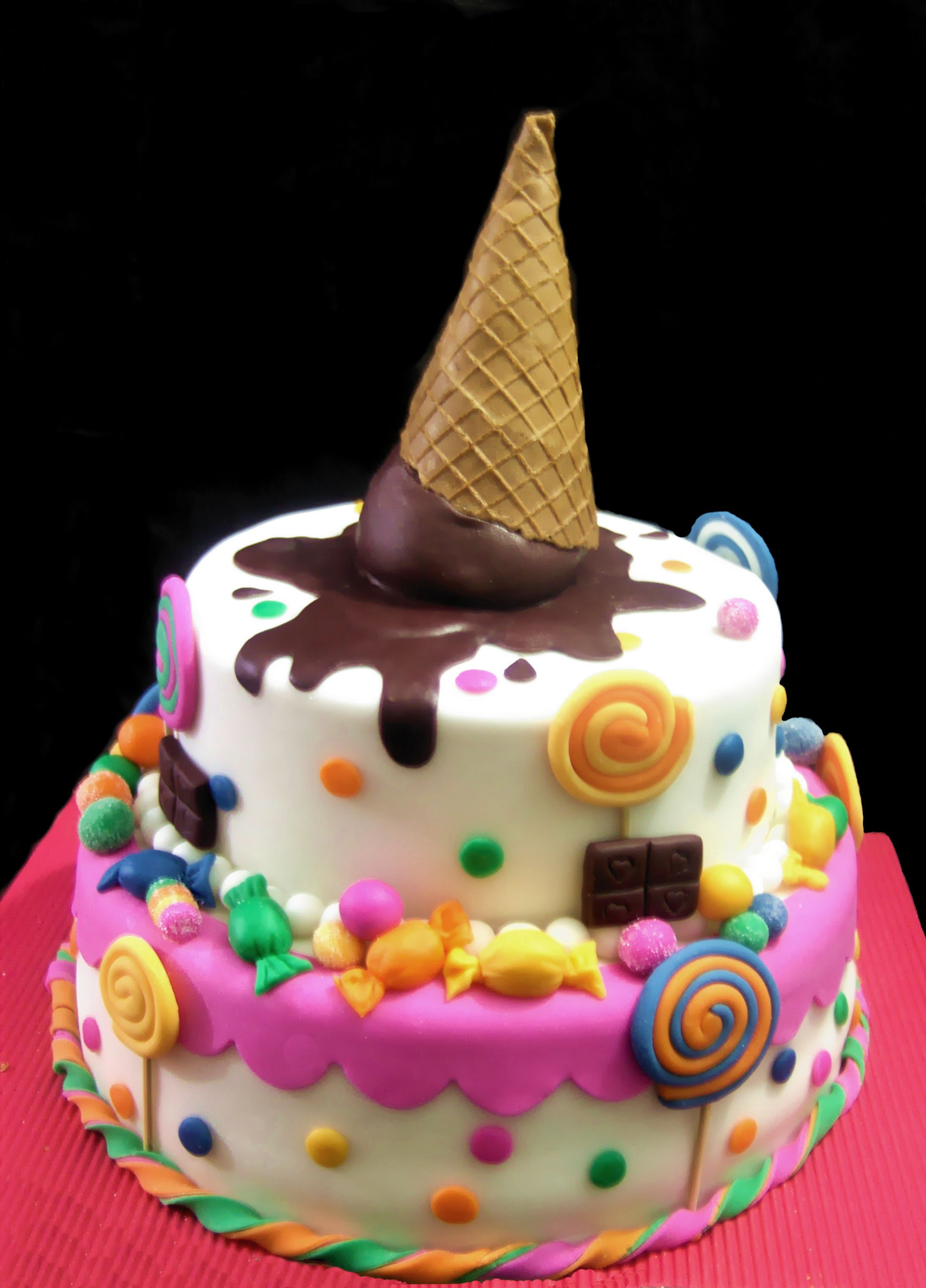 super cute for a little girls cake cakes Pinterest Cake