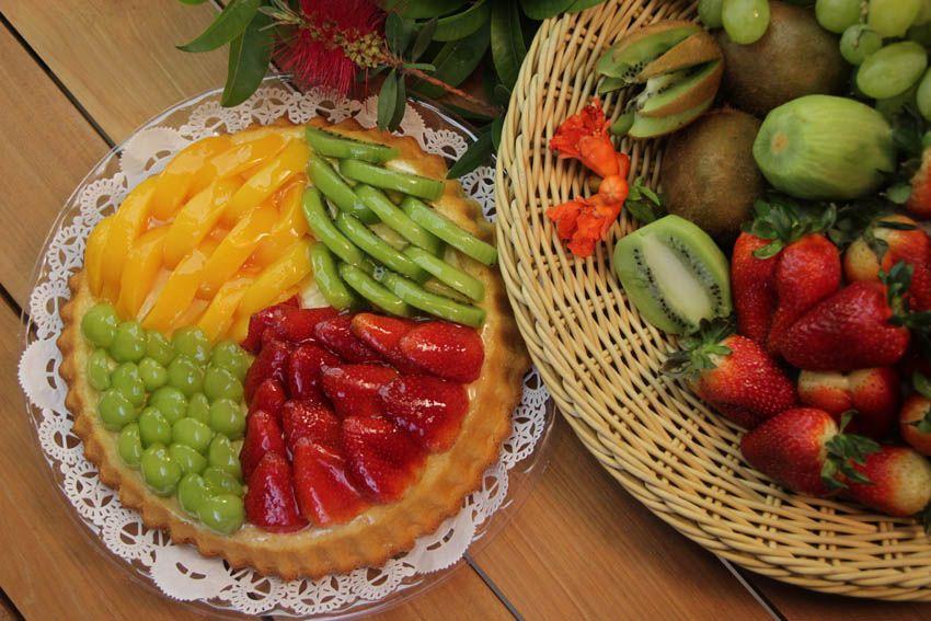 ¡Babaresa Quemen con deliciosas frutas frescas!
