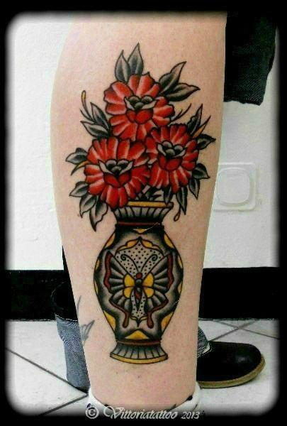 14 Decorative Flower Vase Tattoos Tattoos Pinterest Tattoos