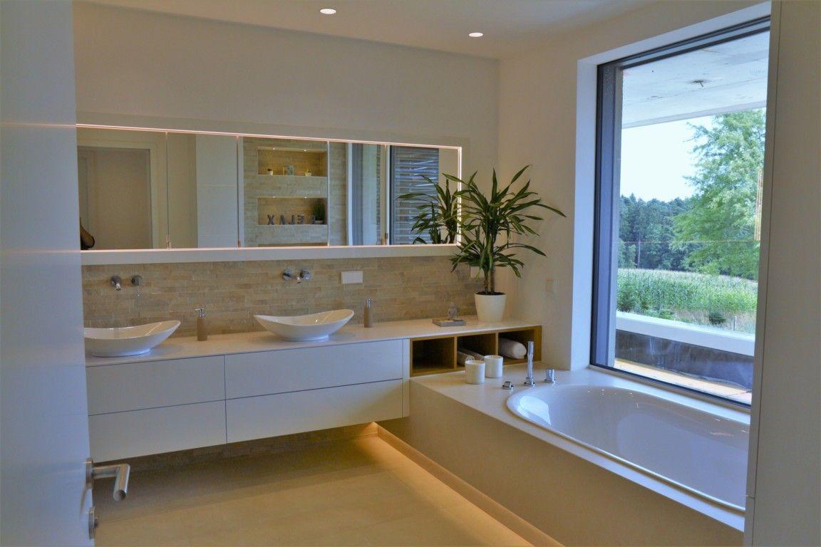 Badezimmer Modern Beige Badewanne Belle Indirekte Beleuchtung Beleuchtung Badezimmer Badewanne