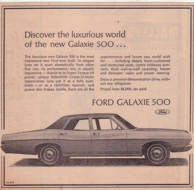 1968 Ford Galaxie 500 Ad Ford Galaxie Ford Galaxie 500 Galaxie 500