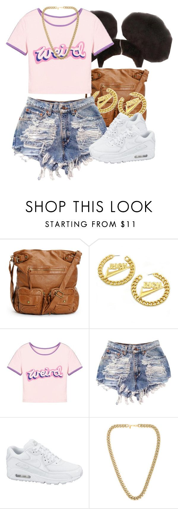 """""""Shirt describes me """" by lulu-foreva ❤ liked on Polyvore featuring NIKE and Kenneth Jay Lane"""