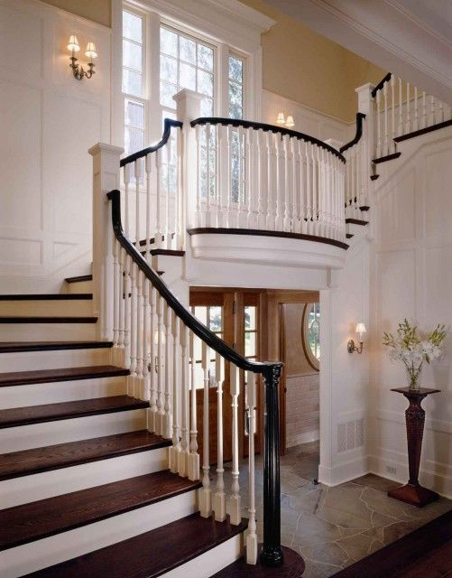 Black Painted Handrails...elegant Staircase And Landing. | Staircase U0026  Railings | Pinterest | Home, House And Staircase Design