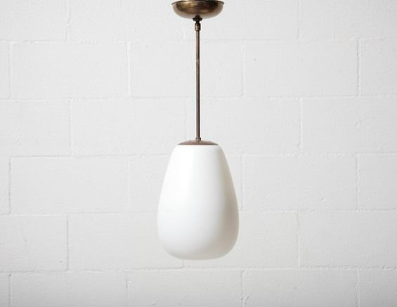 Modern Milk Glass Drop Pendant Lamp