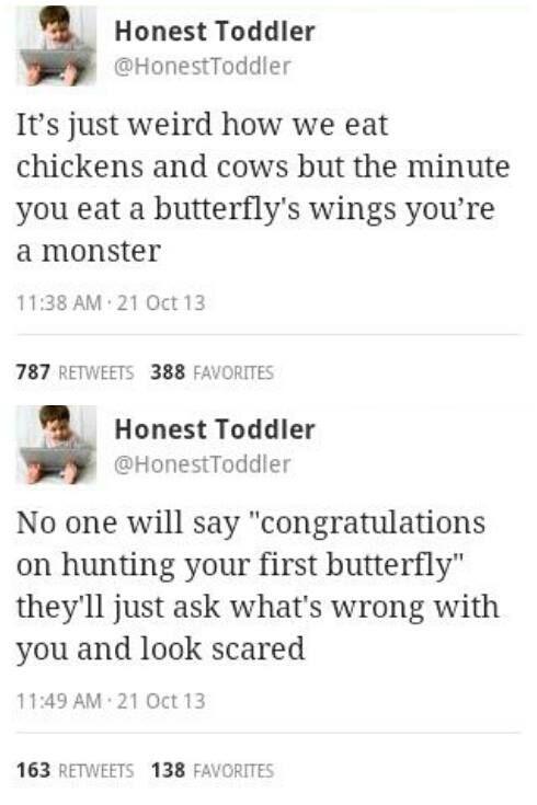 Honest Toddler - Twitter. Funny   ㋡ Memes ㋡   Funny tweets ...
