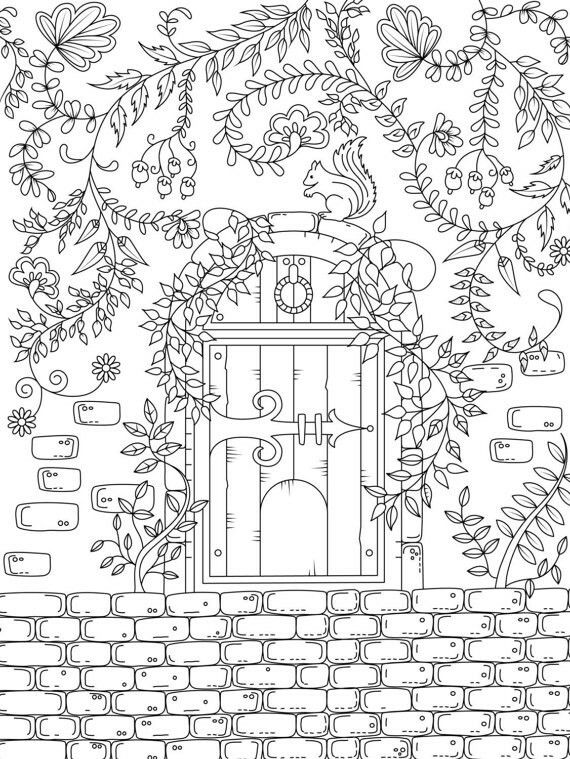 Garden Gate Coloring Page Coloring Pages Coloring Pages To Print Colouring Pages