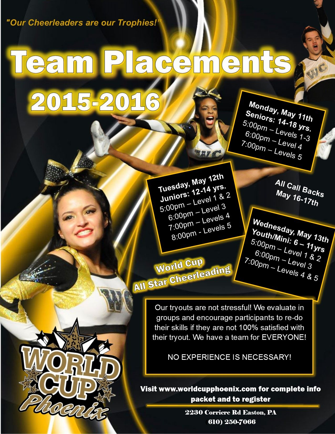 We Could Not Have Asked For A Better Or More Successful First Season As World Cup Phoenix We Are Looking Forwa With Images Cheerleading Cheerleading Competition World Cup