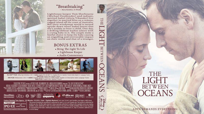 Light Between Oceans The Blu Ray Custom Cover Dvd Cover Design Custom Dvd Dvd Covers