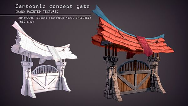 Cartoonic Game assets used in a Game projectSoftware used: Maya 2014,Adobe Photoshop,Marmoset toolbag 2kindly check out my game project too http://on.be.net/16KI040