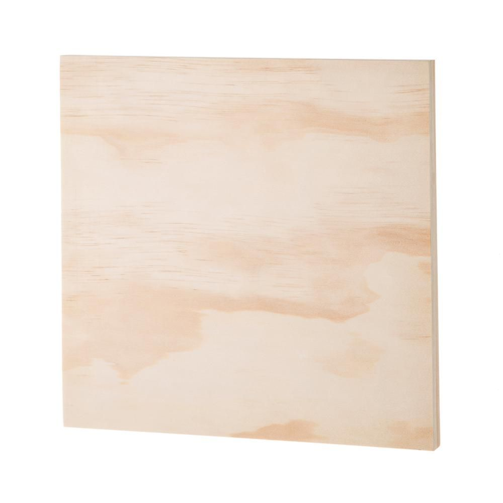 Darice 12 In W X 12 In H Wooden Panel Canvas In Unfinished Wood 30049439 Unfinished Wood Paneling Wooden