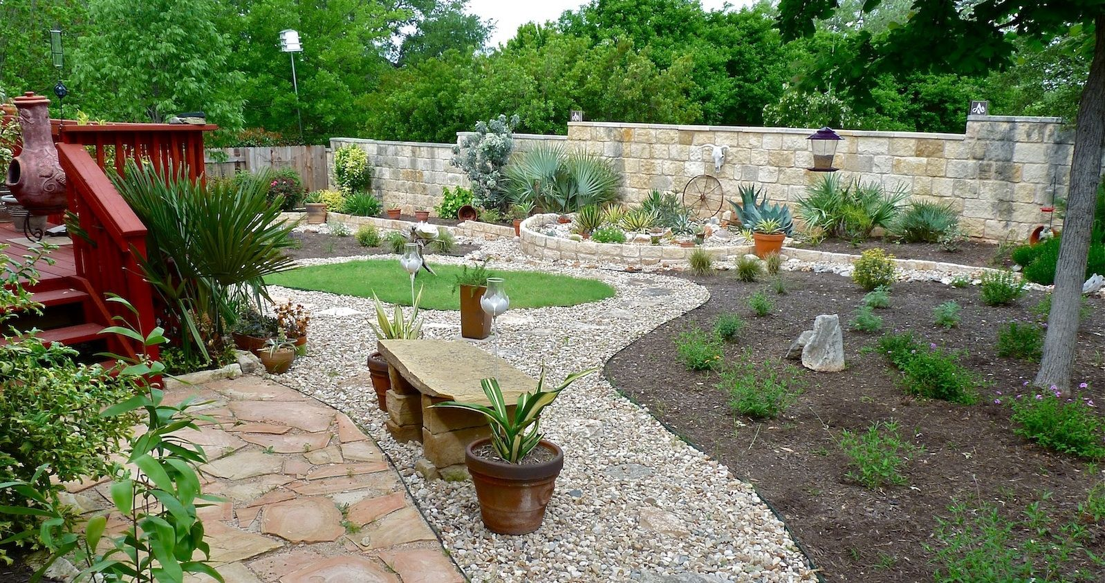 Reflections on a xeriscape texas gardening reflection for Low maintenance desert plants