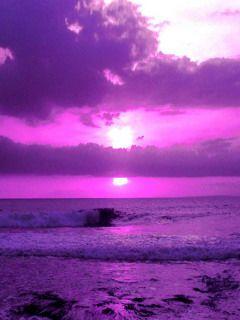 Download Purple Sky Sea Mobile Wallpaper Mobile Wallpapers Purple Sky Sky Sea Purple Sunset