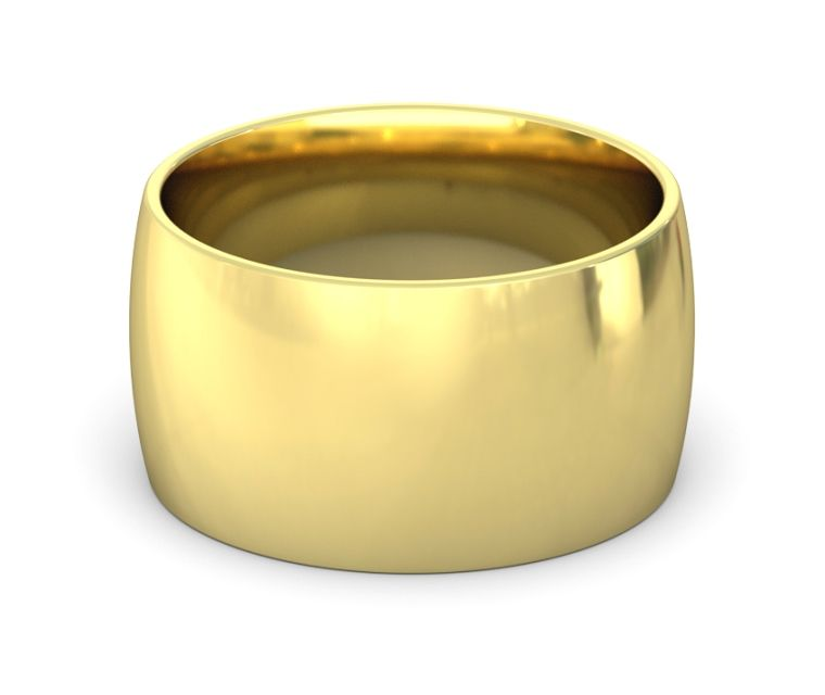 12mm 14k Yellow Gold Wedding Band Domed And Comfort Fit 14k Yellow Gold Wedding Band Yellow Gold Jewelry Gold Band Ring